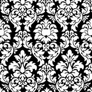 white and silver damask wallpaper