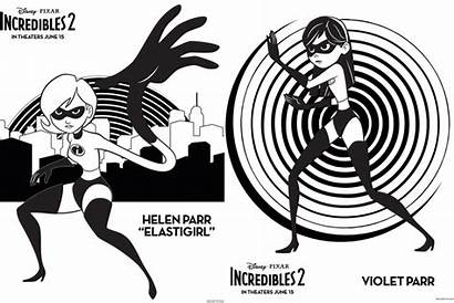 Incredibles Coloring Pages Printables Crafts Recipes Crafty