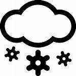 Weather Snow Icon Snowy Svg Cloud Heavy