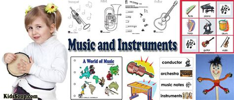 music instruments preschool activities crafts lessons and printables kidssoup