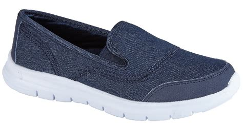 Womens Ladies Gym Shoes Trainers Flat Slip On Casual