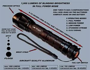 T Rex T2 Cree Xml2 U2 Led Tactical Flashlight Blinding