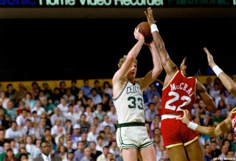 throwback boston celtics win  nba finals  larry