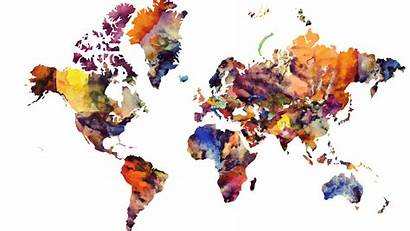 Map Modern Desktop Watercolor Resolution Wallpapers Background