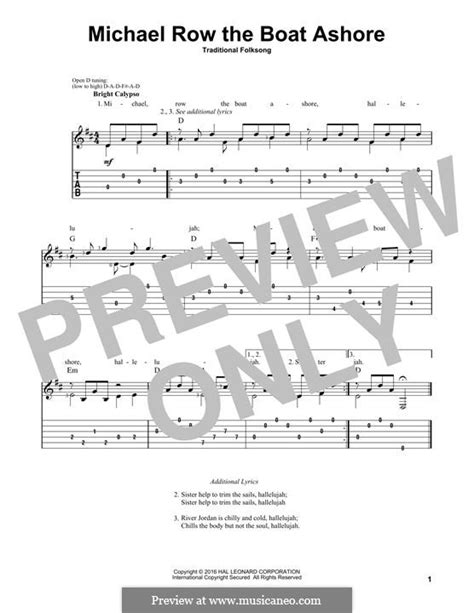 Row The Boat Ashore Piano by Michael Row The Boat Ashore By Folklore Sheet On