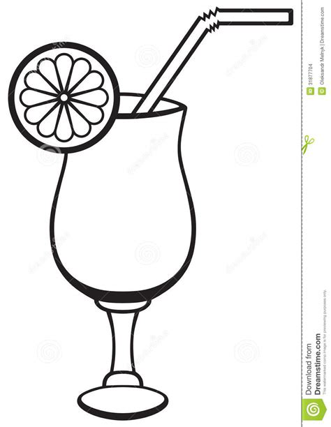 mixed drink clipart black and cocktail clipart outline pencil and in color cocktail