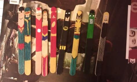 superhero popsicle bookmarks craft stick crafts