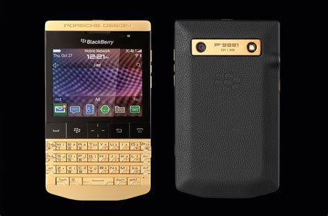 porsche design blackberry porsche design announce the gold blackberry p 39 9981