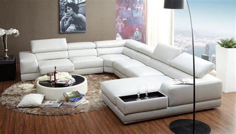 italian style modern  shaped white leather extra