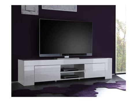 meuble tv 190 cm finition laqu 233 eos coloris blanc vente de meuble et support tv conforama