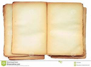 Old Book Open On Both Blank Pages. Royalty Free Stock ...