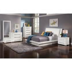 dimora 7 piece queen upholstered bedroom set white