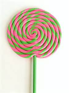 Pink and Green Swirl Lollipop