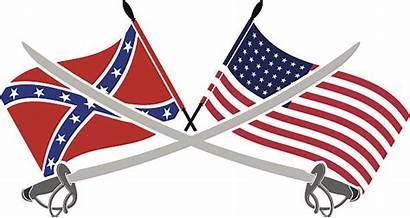 Civil War Clip American Illustrations Vector Flags