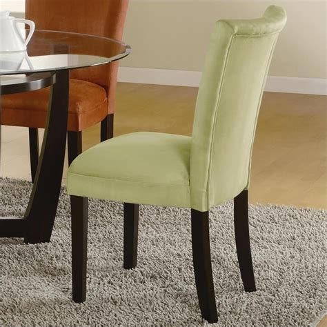 coaster bloomfield upholstered parson dining chair in