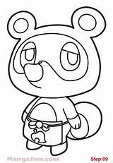 Nook Tom Crossing Animal Draw Step Mangajam sketch template