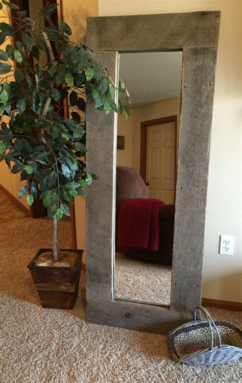 mirror home decor rustic wood length mirror pallet furniture standing