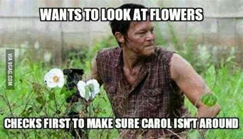 Look At The Flowers Meme - quot just look at the flowers quot the walking dead pinterest