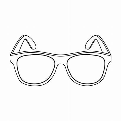 Outline Sunglasses Occhiali Icona Avanguardia Gialla Nello