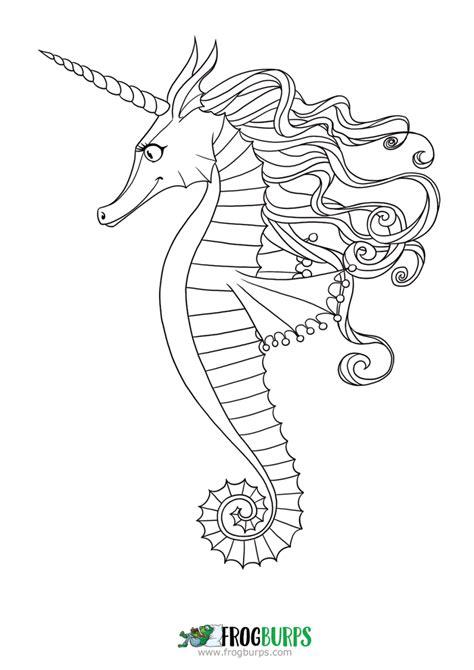 seahorse coloring page seahorse coloring page frogburps