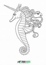 Seahorse Coloring Pages Colouring Outline Sea Printable Mandala Books Want Don Seahorses Under Cartoon Pdf Getdrawings Drawing sketch template