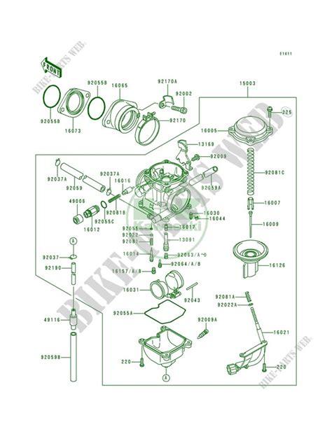 Kawasaki Bayou 300 4×4 Parts Diagram