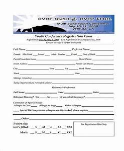 8 conference registration form samples free sample With sample workshop registration form template
