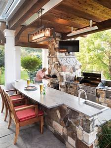 Outdoor, Kitchen, With, Pizza, Oven
