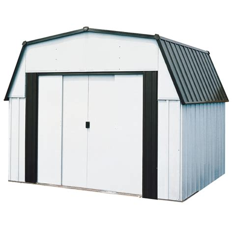 Metal Storage Shed Home Depot by Shop Arrow 10 Ft X 9 Ft Galvanized Steel Storage Shed