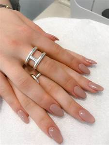 Ongle En Gel Court : pose compl te d 39 ongles en gel sur les mains avec vernis couleur french nail ~ Melissatoandfro.com Idées de Décoration