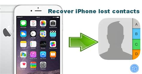 how to recover lost contacts from iphone 6