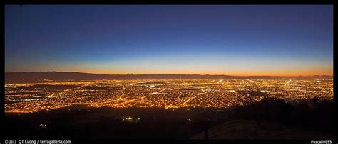 panoramic picture photo lights of san jose and silicon