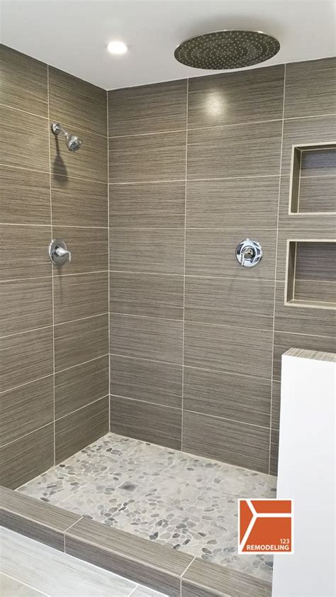 Bathroom Shower Remodel Ideas by Master Bath Remodel With Open Walk In Shower For Empty