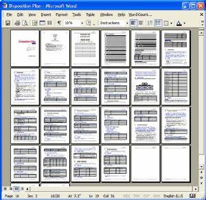 Ms Organization Chart 2 0 Disposition Plan Template Ms Word Templates Forms