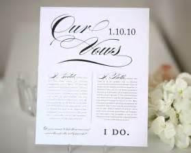 wedding vows print wedding gift anniversary gift table numbers by shine - Personalized Wedding Ribbon