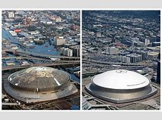 These before and after photos of Hurricane Katrina's