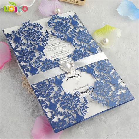 sets wedding invitation card royal blue color elegant