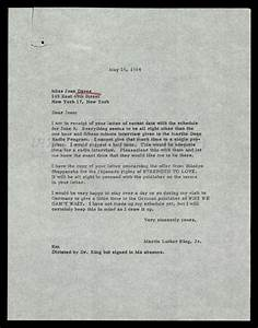 carbon copy letter from dr king to joan daves regarding With carbon copy documents
