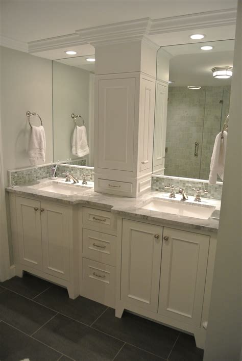 not this one but this arrangement vanity w recessed cabinet 2 low drawers open