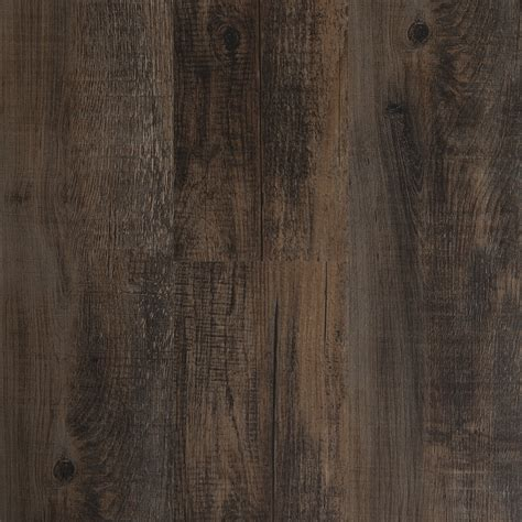 vinyl plank flooring rustic shop style selections 6 in x 36 in antique woodland oak brown peel and stick rustic residential