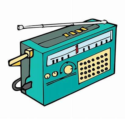 Radio Clipart Clip Cartoon Transistor Fm Transparent