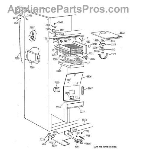 parts  ge zissdcbss freezer section parts appliancepartsproscom