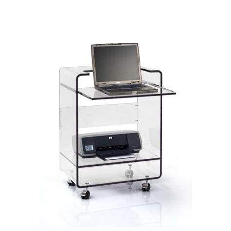 bureau pour pc portable meuble plexiglas transparent pc ioda bugg
