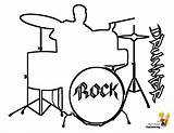 Coloring Musical Pages Drums Instruments Drum Instrument Percussion Yescoloring Sheet Drawings Cool Pounding Rock Drummer Boys Printables Bass Sheets Kits sketch template