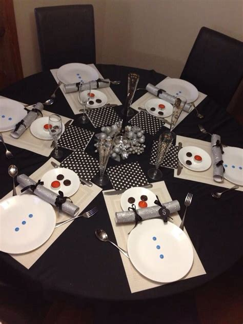 Snowman Table Decorations - winter table setting 4