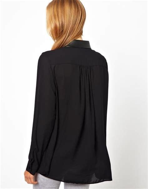 looking blouse black sheer blouse look silk pintuck blouse