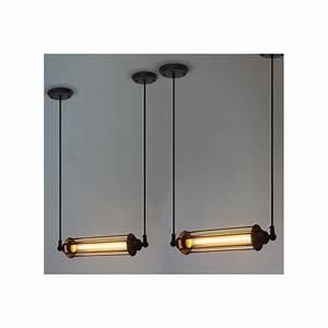 Suspension Style Industriel : suspension design industriel r tro avec 1 ampoule edison tube par vitra design par livraison ~ Teatrodelosmanantiales.com Idées de Décoration