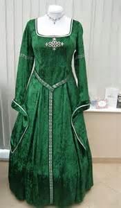Green Celtic Medieval Dresses