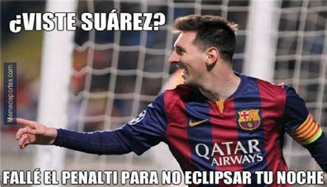 Memes De Lionel Messi - chions league lionel messi se vuelve blanco de memes tras fallar penal fotos foto 1 de
