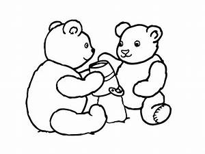 Bear playing with friends coloring pages >> Disney ...